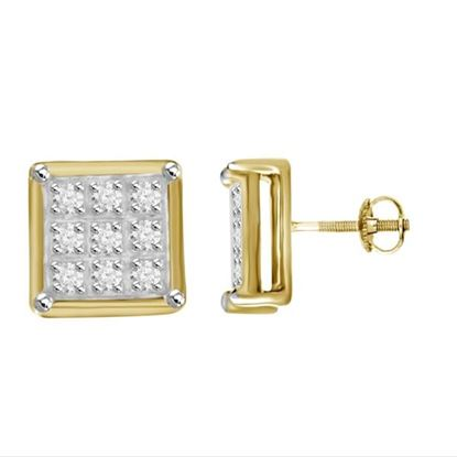 Picture of 0.05CT DIAMONDS SET IN 10KT YELLOW GOLD YUVA EARRING