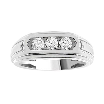 Picture of 0.50CT RD DIAMONDS SET IN 10KT WHITE GOLD MENS BAND