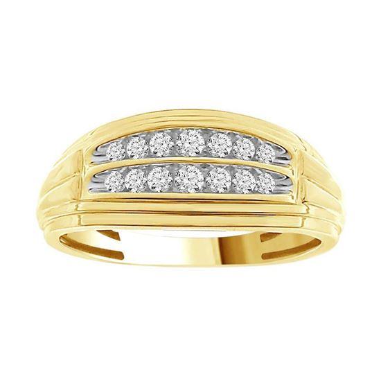 AV Diamonds 0 50CT RD DIAMONDS SET IN 10KT YELLOW GOLD MENS RING