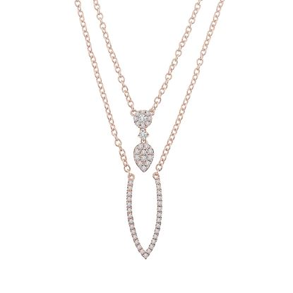 Picture of 0.25CT RD DIAMONDS SET IN 14KT ROSE GOLD LADIES NECKLACE