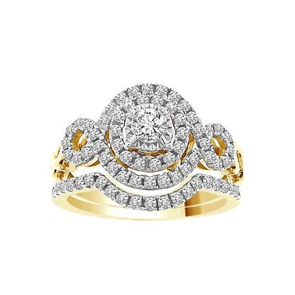 Picture of 0.75CT RD DIAMONDS SET IN 14KT YELLOW GOLD LADIES BRIDAL RING