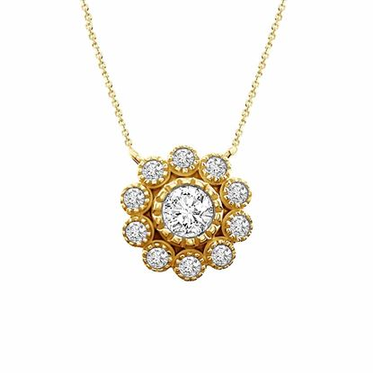 Picture of 0.50CT RD DIAMONDS SET IN 14KT YELLOW GOLD LADIES PENDANT WITH CHAIN