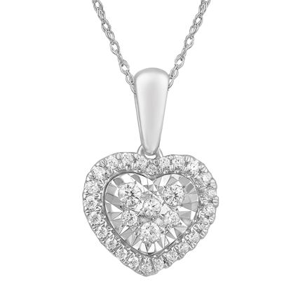 Picture of 0.30CT RD DIAMONDS SET IN 10KT WHITE GOLD LADIES PENDANT WITH CHAIN