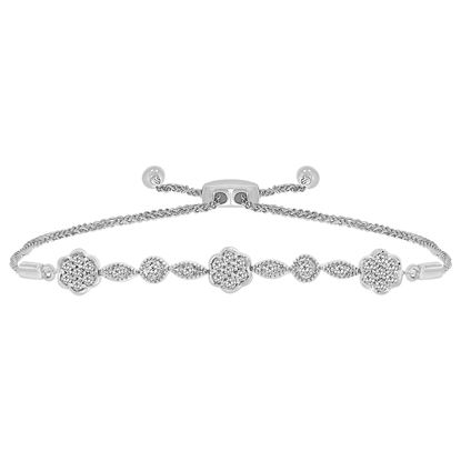 Picture of 0.33CT RD DIAMONDS SET IN SILVER LADIES BRACELET
