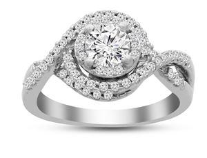 AV Diamonds 100CT WITH 065CTR RD DIAMONDS SET IN 14KT WHITE GOLD