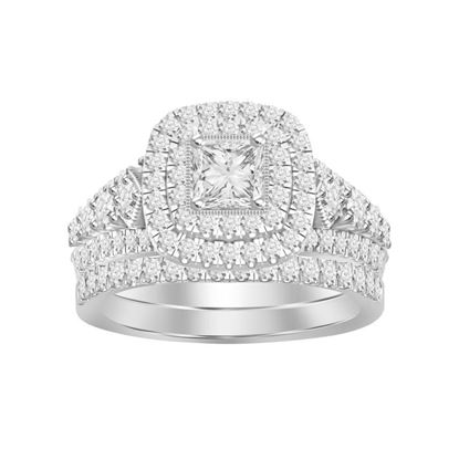 Picture of 1.50CT RD DIAMONDS SET IN 14KT WHITE GOLD LADIES BRIDAL RING