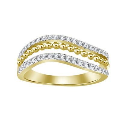 Picture of 0.25CT RD DIAMONDS SET IN 14KT YELLOW GOLD LADIES BAND