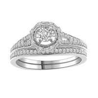 Picture of 0.35CT RD/BGT DIAMONDS SET IN 10KT WHITE GOLD LADIES BRIDAL RING