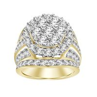 Picture of 5.00CT RD DIAMONDS SET IN 10KT YELLOW GOLD LADIES RING