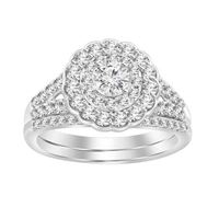 Picture of 1.00CT RD DIAMONDS SET IN 14KT WHITE GOLD LADIES BRIDAL RING