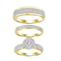 Picture of 1.00CT RD DIAMONDS SET IN 10KT YELLOW GOLD LADIES TRIO RING