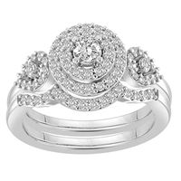 Picture of 0.75CT RD DIAMONDS SET IN 10KT WHITE GOLD LADIES BRIDAL RING