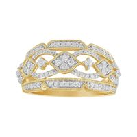 Picture of 0.50CT RD DIAMOND SET IN 14KT YELLOW GOLD LADIES RING