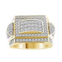 Picture of 1.75CT RD DIAMONDS SET IN 10KT YELLOW GOLD MENS RING