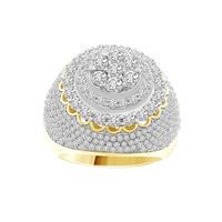 Picture of 3.50CT RD DIAMONDS SET IN 10KT YELLOW GOLD MENS RING