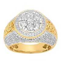 Picture of 2.50CT RD DIAMONDS SET IN 10KT YELLOW GOLD MENS RING