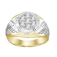 Picture of 0.75CT RD DIAMONDS SET IN 10KT TT YELLOW & WHITE GOLD MENS RING