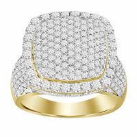 Picture of 4.00CT RD DIAMONDS SET IN 10KT YELLOW GOLD MENS RING
