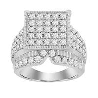 Picture of 3.00CT RD DIAMONDS SET IN 10KT WHITE GOLD LADIES RING