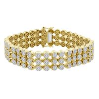 Picture of 10.00CT RD DIAMONDS SET IN 10KT YELLOW GOLD MENS BRACELET