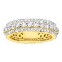 Picture of 3.00CT RD DIAMONDS SET IN 14KT YELLOW GOLD MENS ETERNITY RING