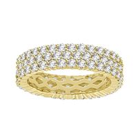 Picture of 3.15CT RD DIAMONDS SET IN 14KT YELLOW GOLD LADIES BAND