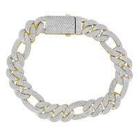 Picture of 3.65CT RD DIAMONDS SET IN 10KT YELLOW GOLD MENS BRACELET