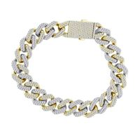 Picture of 11.00CT RD DIAMONDS SET IN 10KT TT WHITE & YELLOW GOLD MENS BRACELET