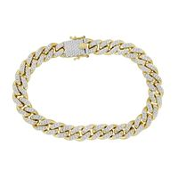 Picture of 3.25CT RD DIAMONDS SET IN 10KT YELLOW GOLD MENS BRACELET