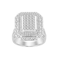 Picture of 1.00CT RD DIAMONDS SET IN SILVER LADIES RING