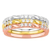 Picture of 0.50CT RD DIAMONDS SET IN 10KT TTT WHITE,YELLOW & ROSE GOLD LADIES BAND