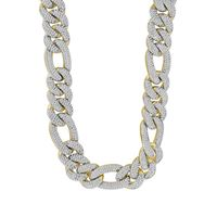 Picture of 9.00CT RD DIAMONDS SET IN 10KT YELLOW GOLD MENS NECKLACE