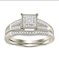 Picture of 0.20CT RD/PC DIAMONDS SET IN 10KT WHITE GOLD LADIES BRIDAL RING
