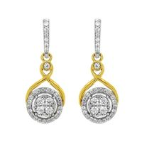 Picture of 0.50CT RD DIAMONDS SET IN 10KT TT YELLOW & WHITE GOLD LADIES EARRING