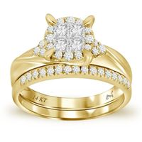 Picture of 0.50CT RD/PC DIAMONDS SET IN 14KT YELLOW GOLD LADIES RING