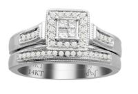 Picture of 0.35CT RD/PC DIAMONDS SET IN 14KT WHITE GOLD LADIES BRIDAL RING