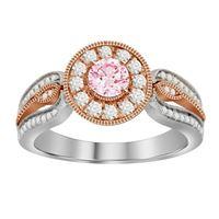Picture of 0.75CT RD/ROSE DIAMONDS SET IN 14KT TT WHITE & ROSE GOLD LADIES BRIDAL SET