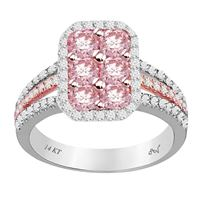 Picture of 1.10CT RD/ROSE DIAMONDS SET IN 14KT TT WHITE & ROSE GOLD LADIES RING