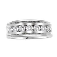 Picture of 1.00CT RD DIAMONDS SET IN 10KT WHITE GOLD MENS BAND