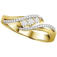 Picture of 0.15CT RD DIAMONDS SET IN 10KT YELLOW GOLD LADIES RING