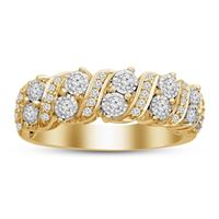 Picture of 0.50CT RD DIAMONDS SET IN 10K YELLOW GOLD LADIES BAND