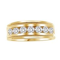Picture of 1.00CT RD DIAMOND SET IN 10KT YELLOW GOLD MENS BAND