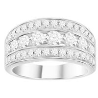 Picture of 1.00CT RD DIAMONDS SET IN 10KT WHITE GOLD LADIES RING