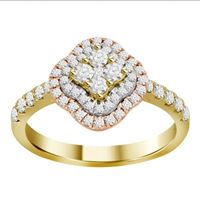 Picture of 0.75CT RD DIAMOND SET IN 14KT TTT WHITE, YELLOW & ROSE LADIES RING