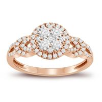 Picture of 0.60CT RD DIAMONDS SET IN 14KT ROSE GOLD LADIES RING