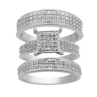 Picture of 0.50CT RD DIAMONDS SET IN SILVER DIAMOND TRIO SET