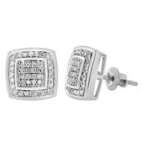 Picture of 0.20CT RD DIAMONDS SET IN 10KT WHITE GOLD LADIES EARRING