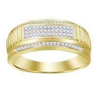 Picture of 0.20CT RD DIAMONDS SET IN 10KT YELLOW GOLD MENS RING