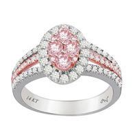 Picture of 1.00CT RD/ROSE DIAMONDS SET IN 14KT TT WHITE & ROSE GOLD LADIES RING