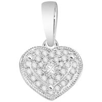 Picture of 0.10CT RD DIAMONDS SET IN 10K WHITE GOLD LADIES PENDANT